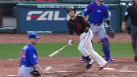 CHC@SF: Posey crushes a two-run homer to left-center