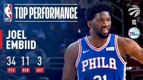 Joel Embiid Leads the 76ers to Victory Over Raptors | January 15, 2018