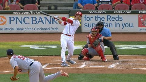 STL@CIN: Votto goes 4-for-4, reaches five times