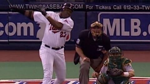 2002 ALDS Gm4: Ortiz's first postseason RBI
