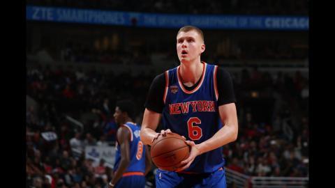 Kristaps Porzingis 27 points power the Knicks to victory