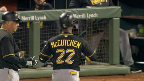 PIT@SF: McCutchen lines an RBI single to right field