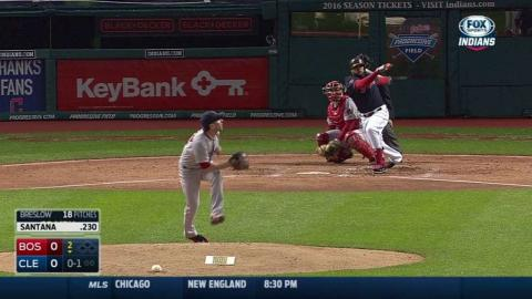 BOS@CLE: Santana's solo homer puts Indians in front