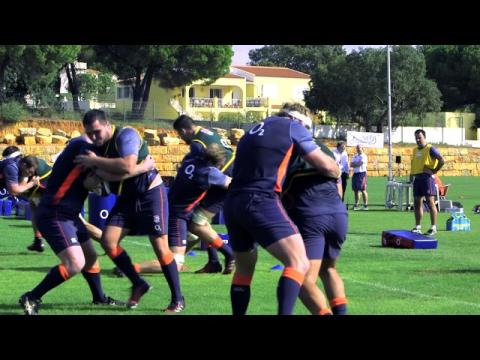 England training camp in Portugal