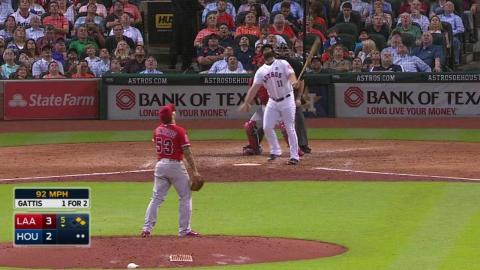 LAA@HOU: Santiago retires Gattis to end the threat