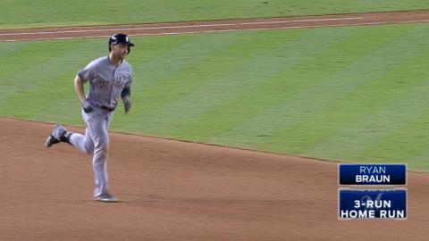 MIL@ARI: Braun nets his second three-run smash