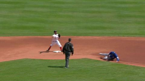 TOR@BOS: Red Sox turn a 5-4-3 double play