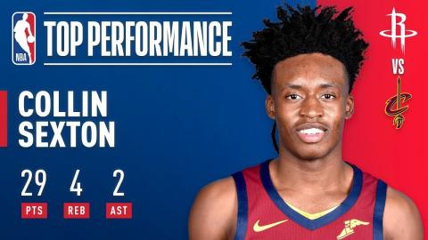 cd78de664b8 Collin Sexton Leads Cavaliers to Victory with Career High 29 Points ...