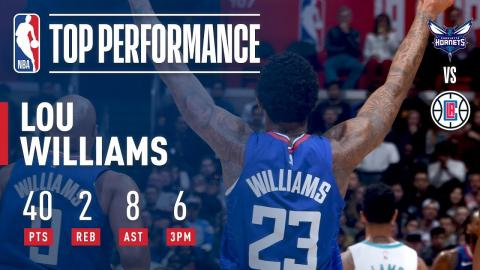 Lou Williams Scores 40 Pts in a Clippers Win on NYE | December 31, 2017