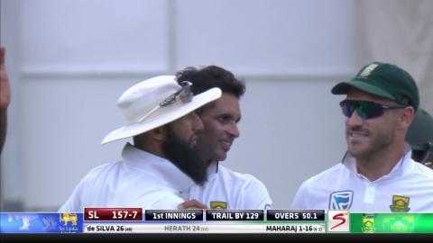 South Africa vs Sri Lanka - 1st Test - Day 2 -   Rangana Herath Wicket