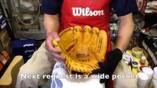 野球 Baseball Shop【#376】グラブの慣らし(ZETT 硬式 Order Glove Part 4)Break In A Glove