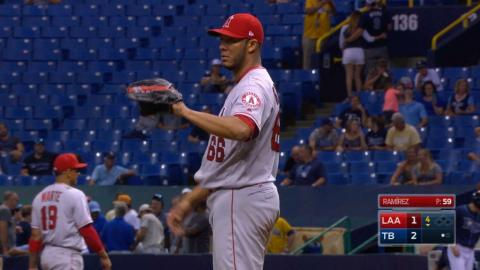 LAA@TB: Ramirez strikes out five over 6 2/3 innings