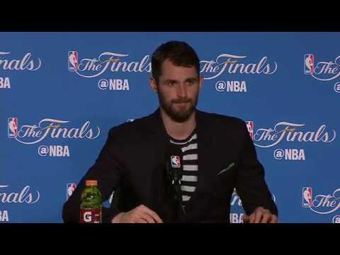 Kevin Love NBA Finals Game 2 Press Conference