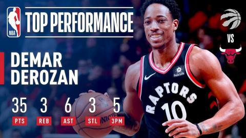 DeMar DeRozan Erupts For 35 Pts in Win vs. Bulls | January 3, 2018