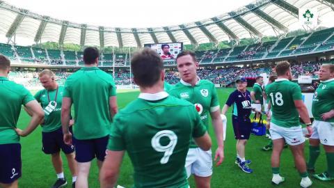 Irish Rugby TV: Japan v Ireland Tunnel Cam