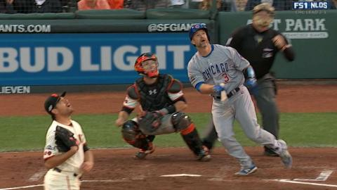 CHC@SF Gm4: Ross drills a solo homer to left field