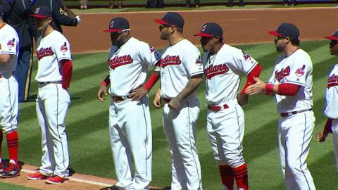BOS@CLE: Indians introduce their starting lineup