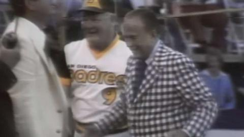 1978 ASG: Ray Kroc throws out the first pitch
