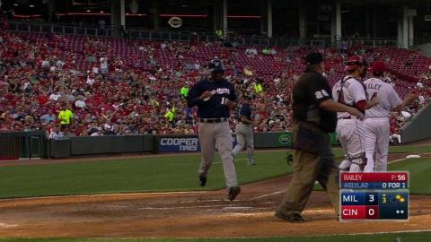 MIL@CIN: Reds challenge double, call confirmed