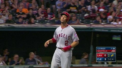 LAA@CLE: Giavotella puts the Angels on the board