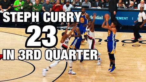 Steph Curry Erupts for 23 in the 3rd Quarter