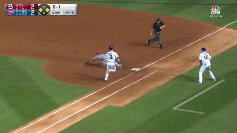 STL@CHC: Ross drops down a bunt to score Heyward