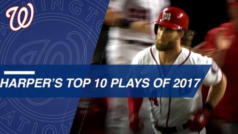 Bryce Harper's Top 10 Plays of 2017