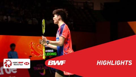 Princess Sirivannavari Thailand Masters 2018 | Badminton MS - SF - Highlights | BWF 2018