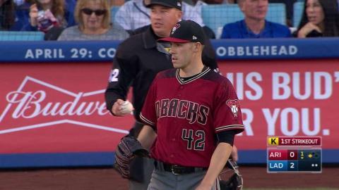ARI@LAD: Corbin strikes out Gonzalez