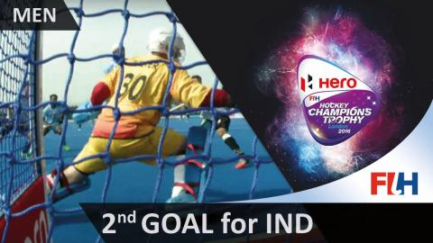 GER 1-2 IND Mandeep tips in after a superb run and pass by Sunil #HCT2016