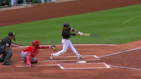 LAA@PIT: Kang hits a homer to center field in the 2nd