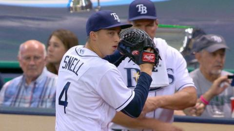 BOS@TB: Snell earns his first Major League victory