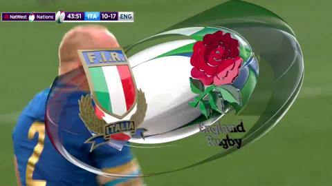 Great hands from Ghiraldini under English pressure! | NatWest 6 Nations