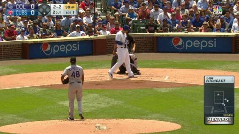 COL@CHC: Rizzo thinks he strikes out, ball called