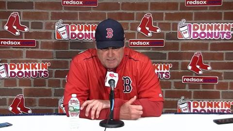 TB@BOS: Farrell talks Porcello's struggles on mound