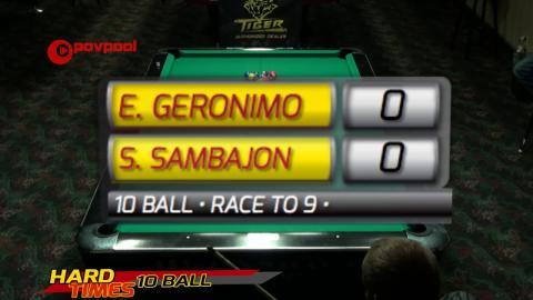 #14 •Edgie GERONIMO vs Santos SAMBAJON JR. • 2016 Hard Times 10-Ball