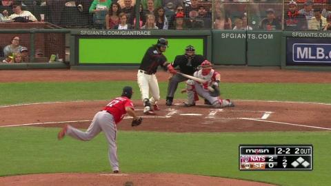 WSH@SF: Gonzalez strikes out Crawford in the 2nd