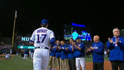 WS2016 Gm3: Maddon, Cubs starters introduced