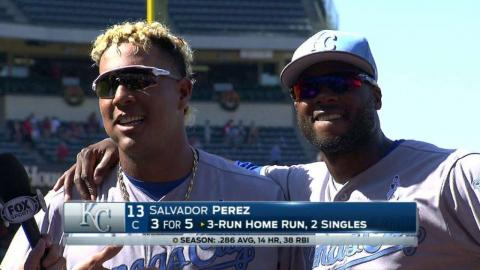 KC@LAA: Perez discusses 7-3 win on Father's Day