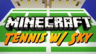 Minecraft Mini-Game: TENNIS! W/ SkyDoesMinecraft!
