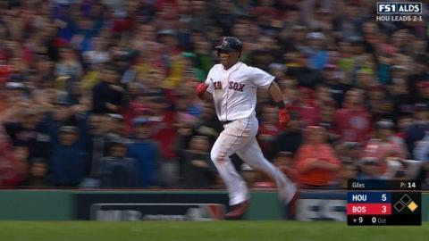 HOU@BOS Gm4: Devers belts an inside-the-park home run