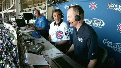 LAD@CHC: Joe Mantegna joins the Cubs' broadcast