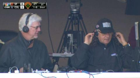 SF@COL: Giants' broadcasters enjoy mullet cap day