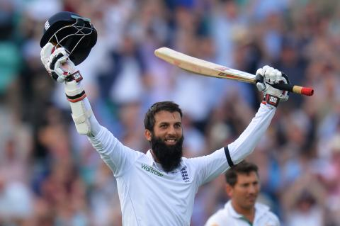 Moeen Ali hits a century on day one at the Oval