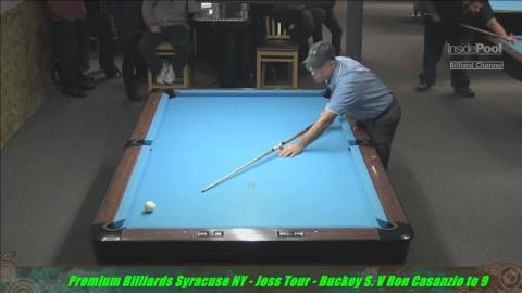 Joss 9 Ball Tour 2015 Premium Billiards Bucky S Vs Ron Costanzio