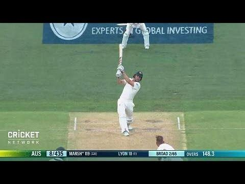 'That is the shot of the innings!': Marsh's massive six
