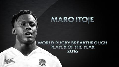 Maro Itoje wins Breakthrough Player of the Year | World Rugby Awards 2016