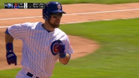 SF@CHC: Zobrist launches a solo home run to right