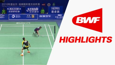 TOTAL BWF Thomas & Uber Cup Finals 2016 | Badminton-Day 3/S2-Thomas Cup GrpC KOR vs MAL-Highlights