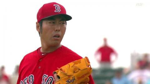 MIA@BOS: Koji whiffs Maxwell in Spring Training debut